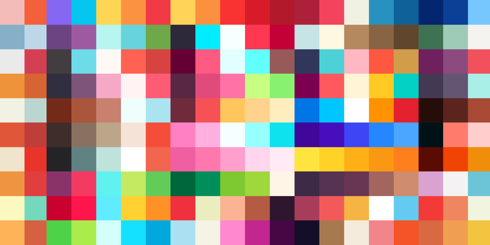 A graphic comprised of colored squares.