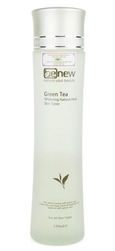Nước hoa hồng Toner trà xanh trị mụn, trắng da Benew Hàn Quốc 150ml