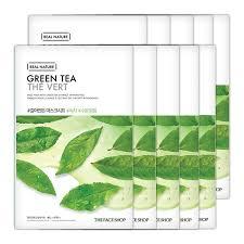 THEFACESHOP REAL NATURE GREEN TEA FACE MASK