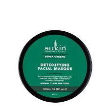 Mặt Nạ Đất Sét Thải Độc Và Làm Sáng Da Sukin Super Greens Detoxifying Facial Masque 100ml