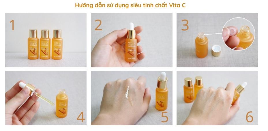 Hướng dẫn sử dụng Vita-C tươi Hàn Quốc