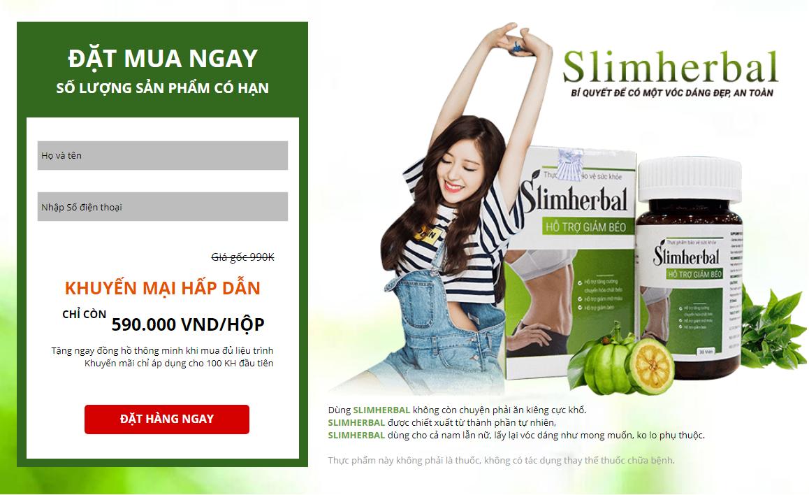 Viên giảm cân an toàn SLIM HERBAL