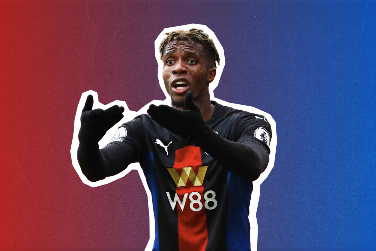 Wilfried Zaha in action during a Crystal Palace match