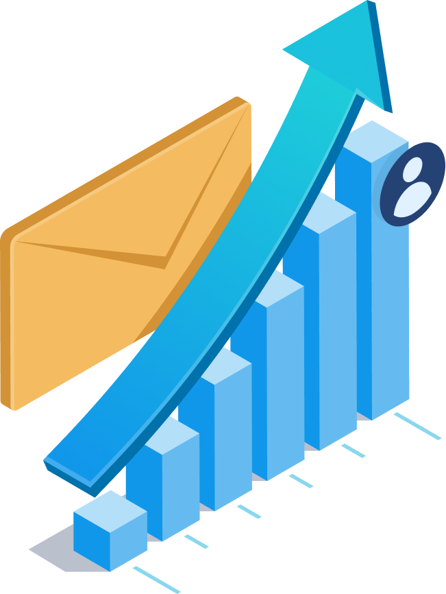 A graph showing email insights