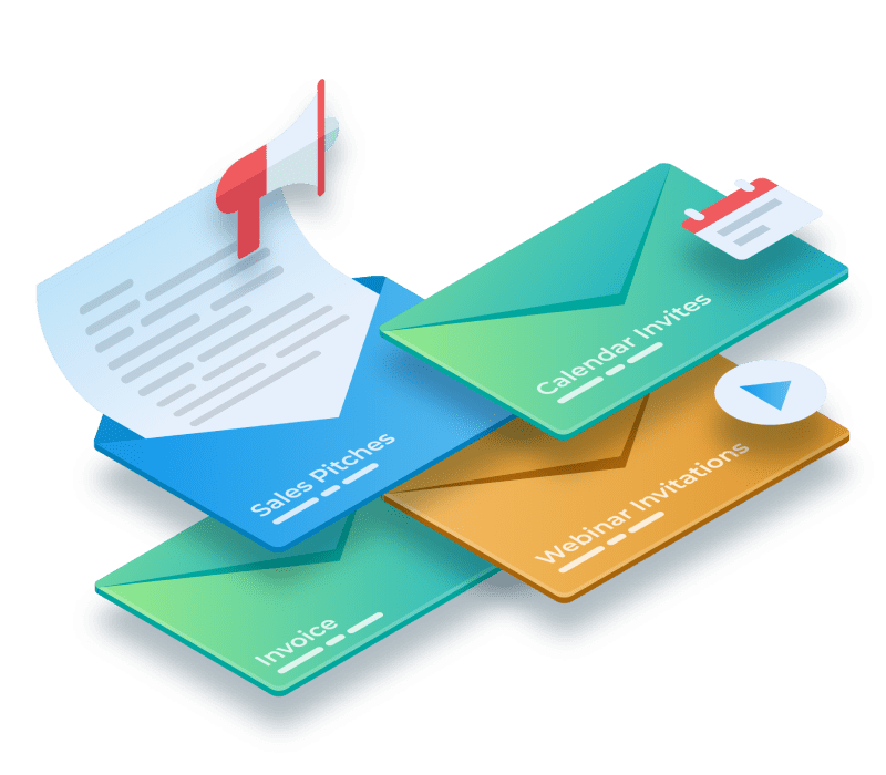 Emails categorized by personalized smart filters