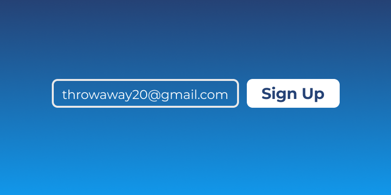 Use a Secondary Email Address