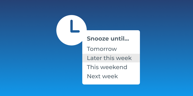 Gmail How To: Snooze
