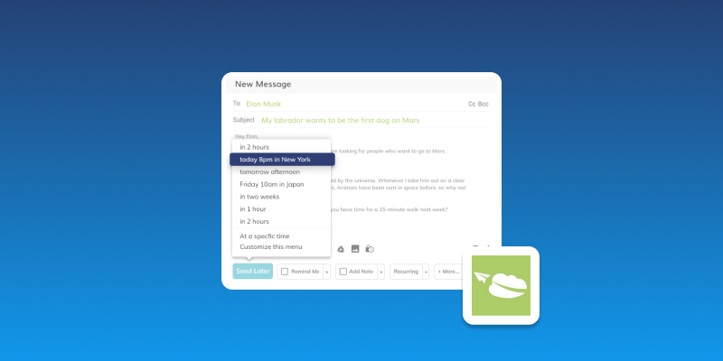 Screenshot of Right Inbox Email Productivity Suite