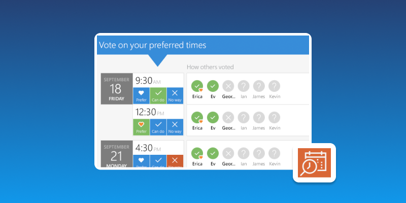 Screenshot of FindTime for Outlook