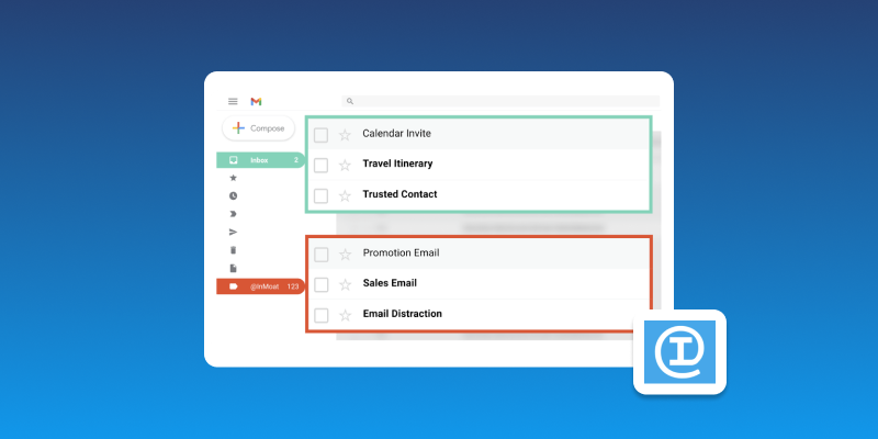Screenshot of InMoat Email Productivity Tool