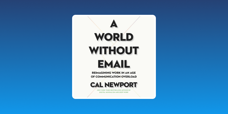 Book Cover for A World Without Email