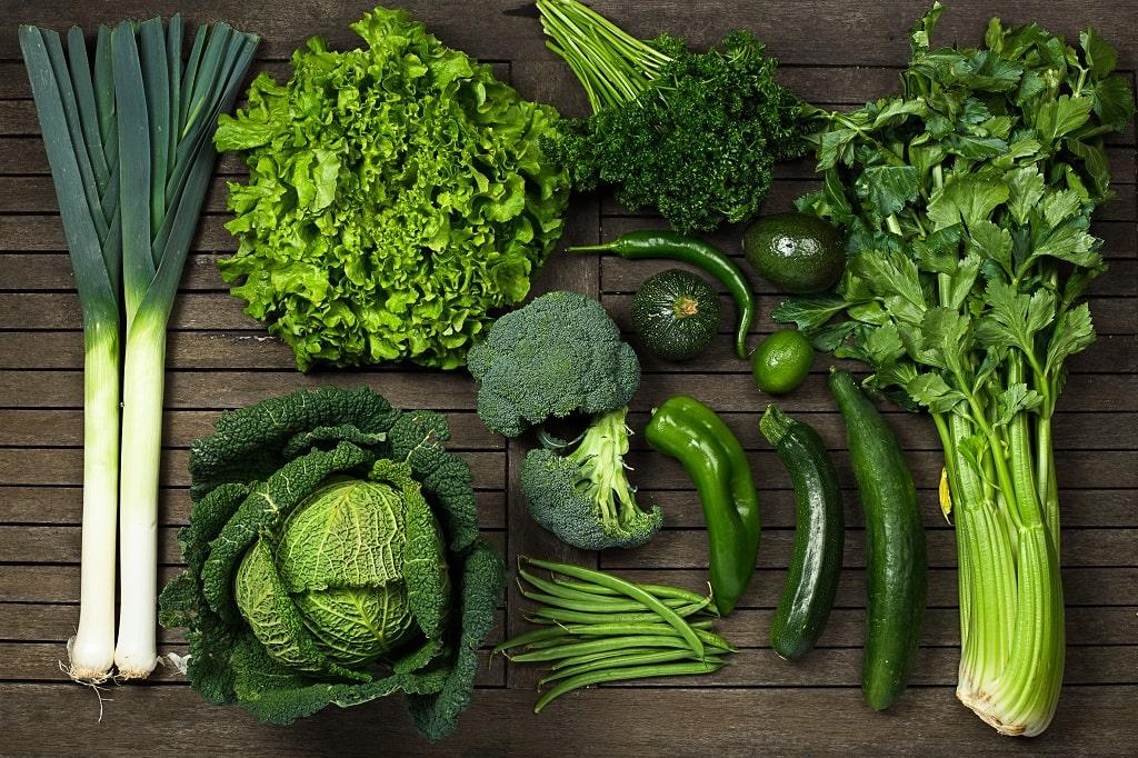 Leafy greens for eyesight