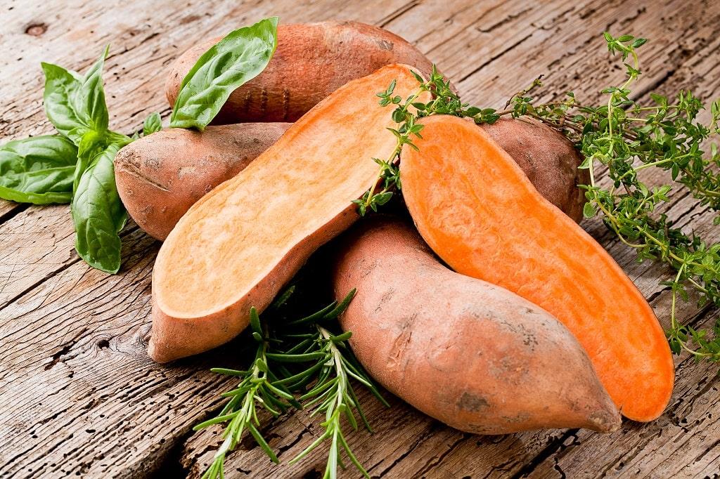 Sweet potatoes for eyesight
