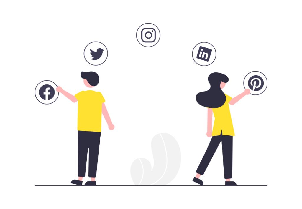 Omnichannel marketing ilustration