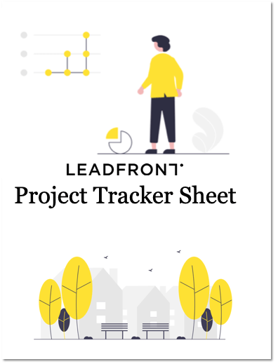 Project tracker front page
