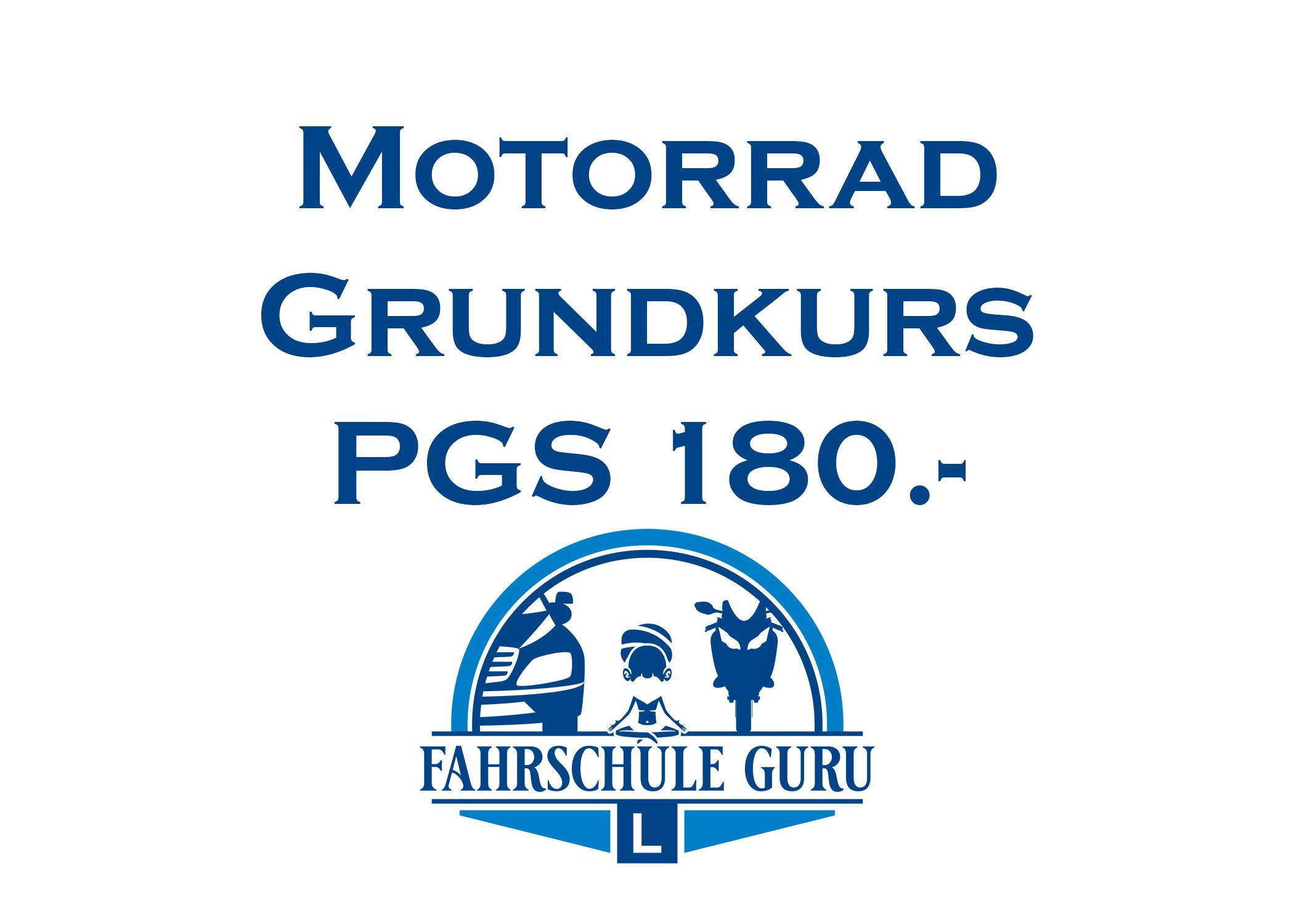 Motorradgrundkurs PGS (pro Teil) CHF 180.-