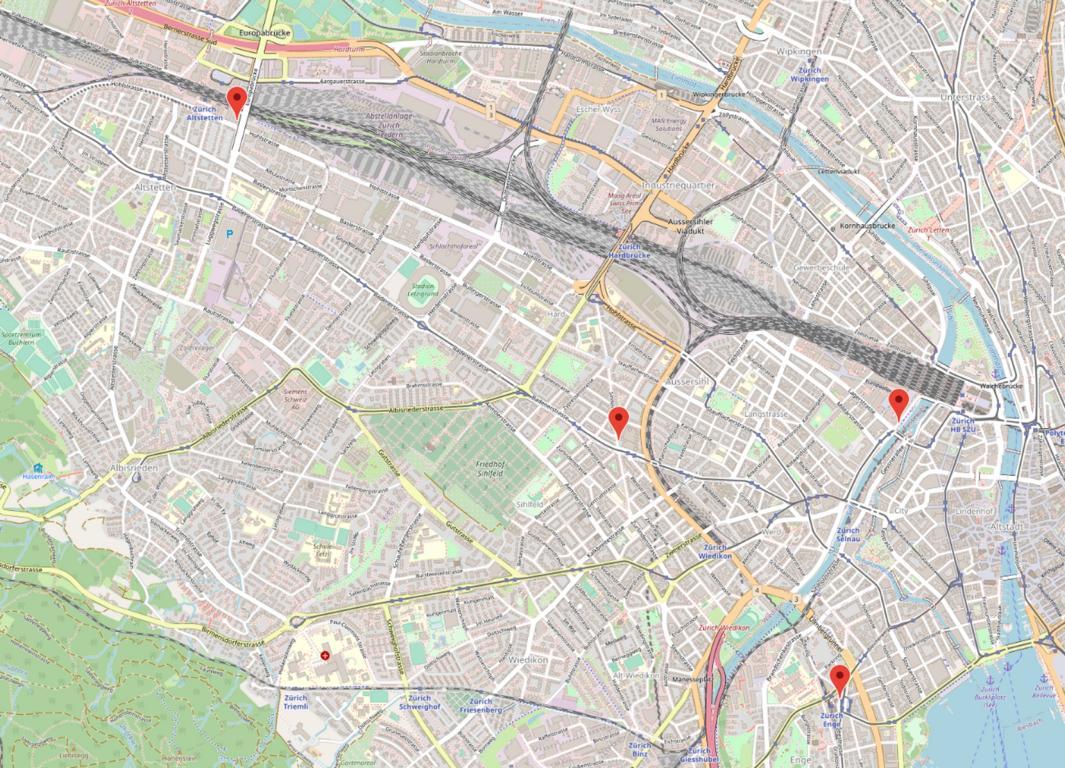 Standorte in Zürich