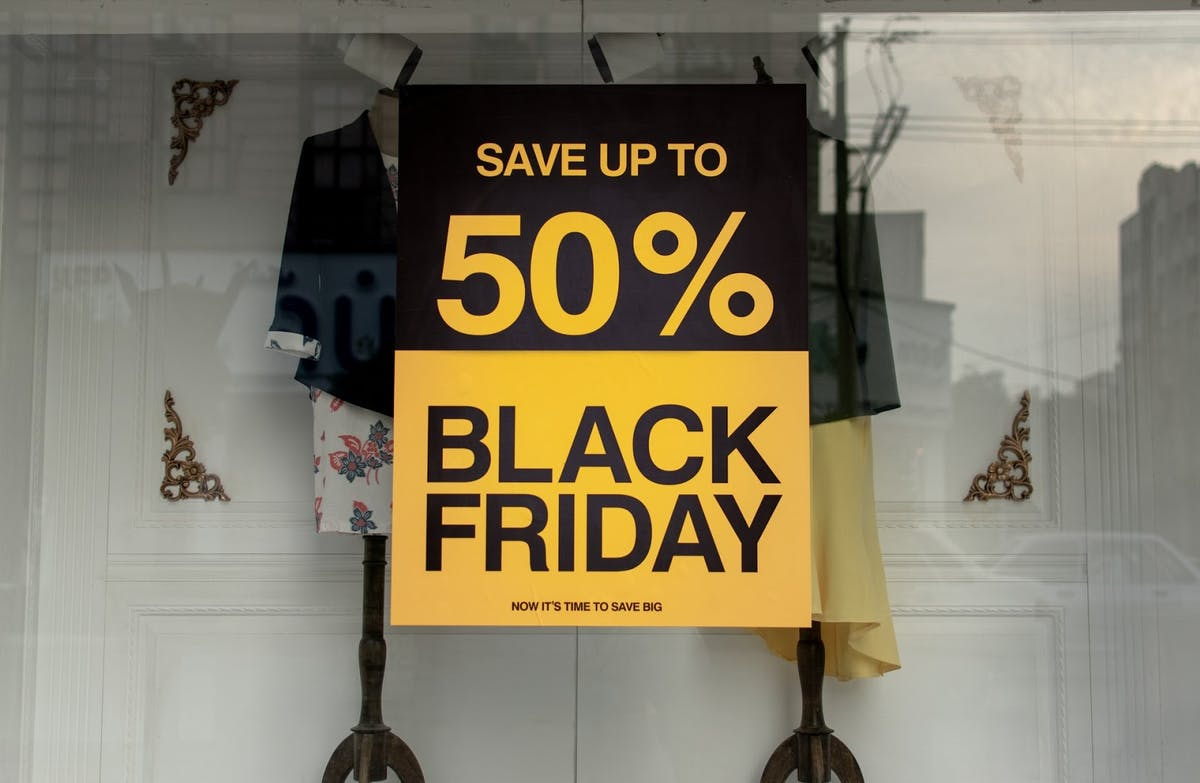 advertisement promoting a sale