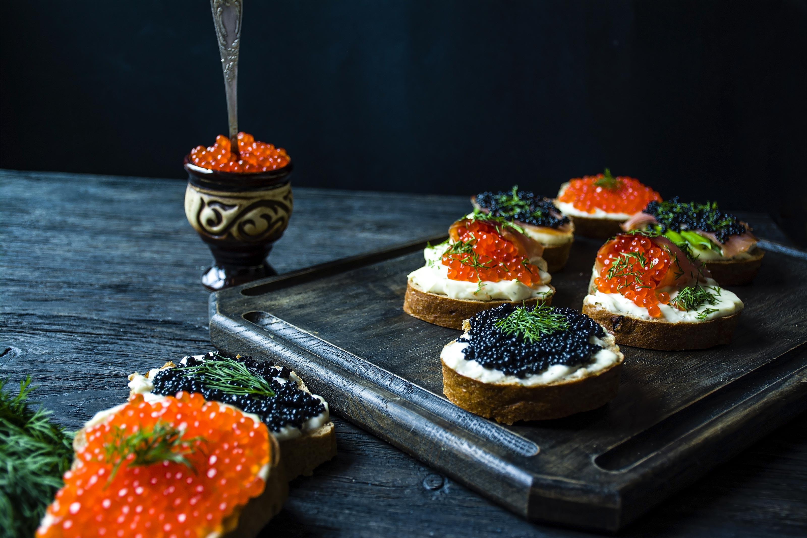 Kaviar-Baguette