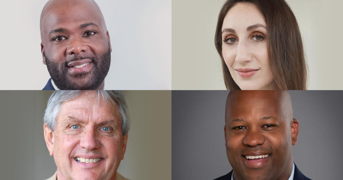 Headshots of Frederick J. Riley, Caroline Hopper, Mack McCarter and Shawn Barney