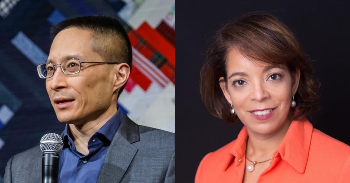 Headshots of Eric Liu and Alejandra Y. Castillo