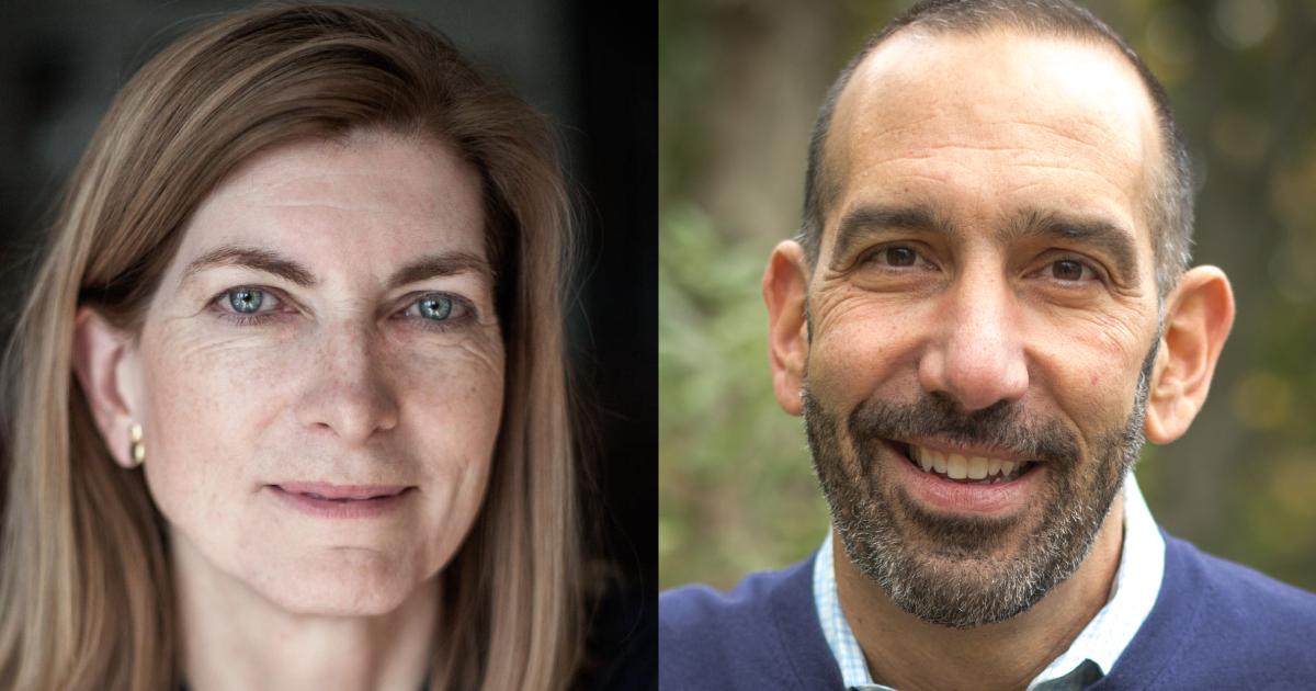 Headshots of Rosanne Haggerty and Dan Cardinali