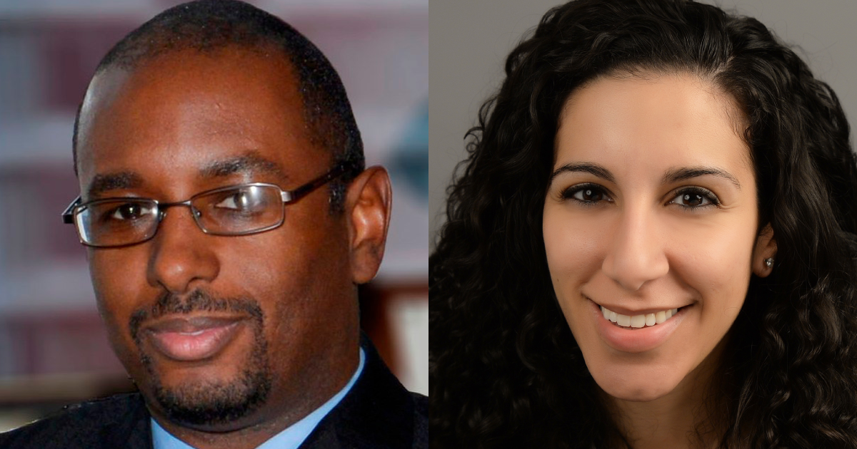 Headshots of Mark S. Lewis and Kristina Gawrgy Campbell