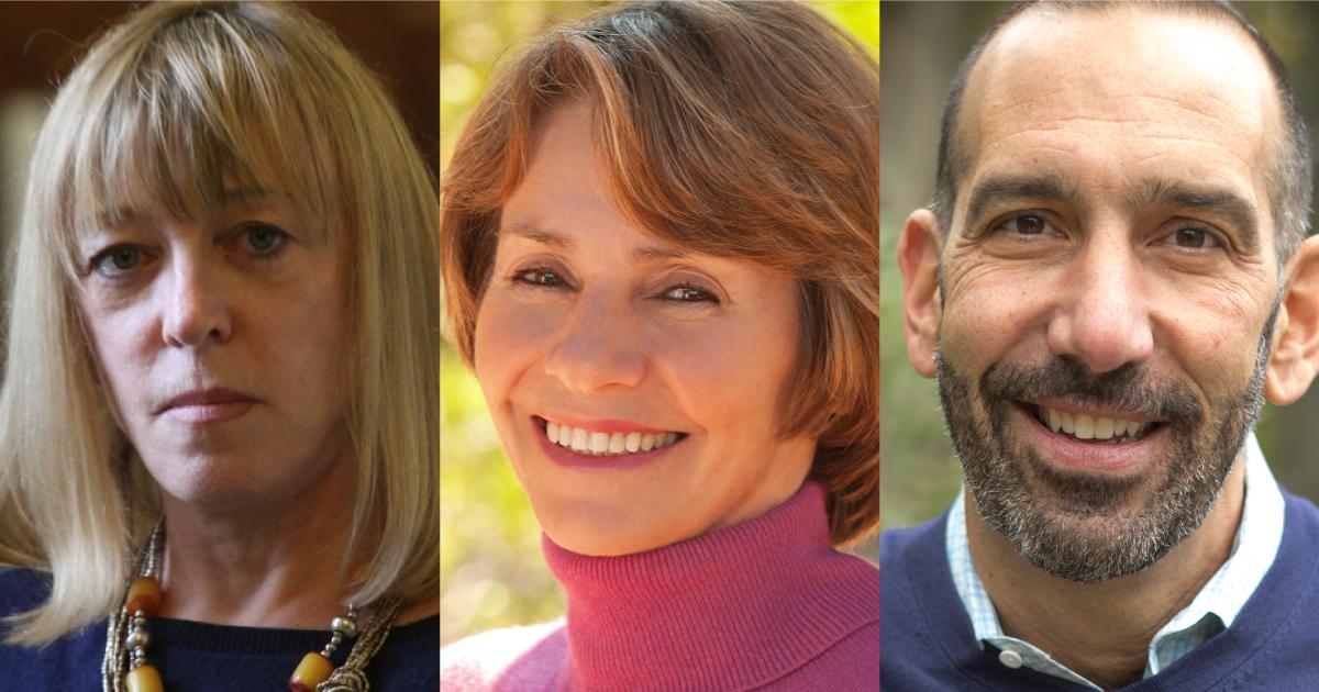 Headshots of Jody Williams, Lynne Twist, and Dan Cardinali