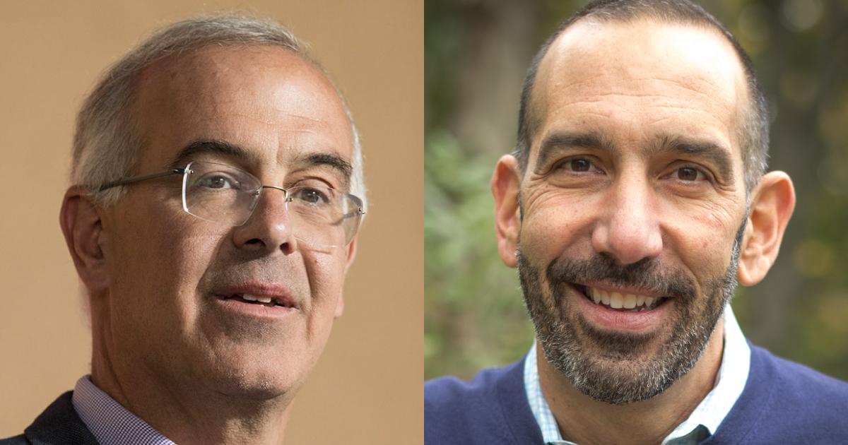 Headshots of David Brooks and Dan Cardinali