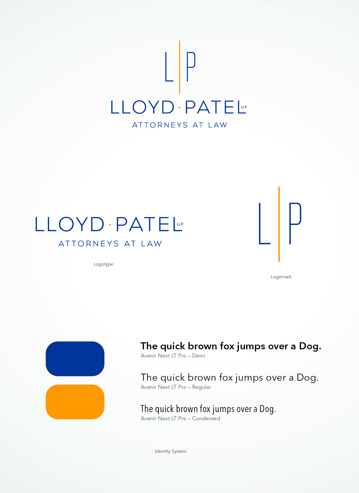 Creating an identity, identity system and website for a new law partnership that evokes professionalism and stability,
