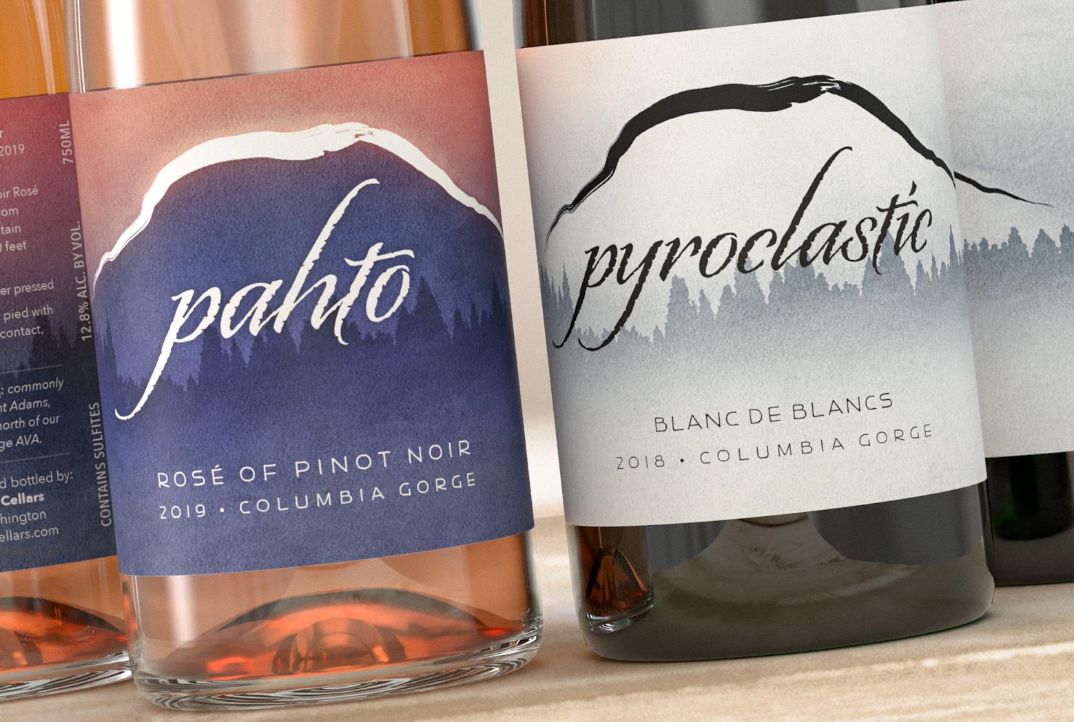 Pahto (Ridge of Wonders) Wine Labels Render - Rose & BdB