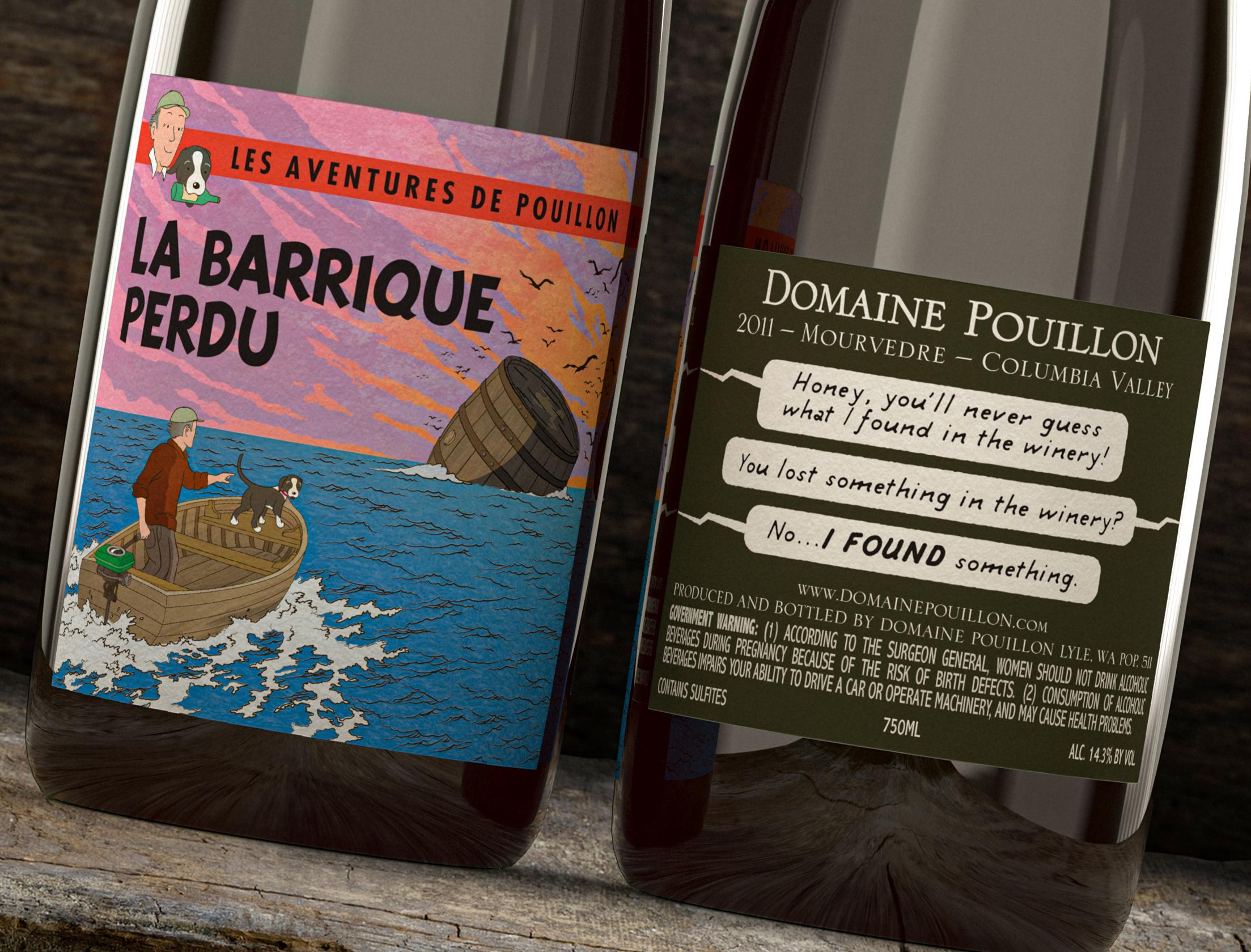 *Domaine Pouillon Cover –  La Barrique Perdu (The Lost Barrel) Close-up