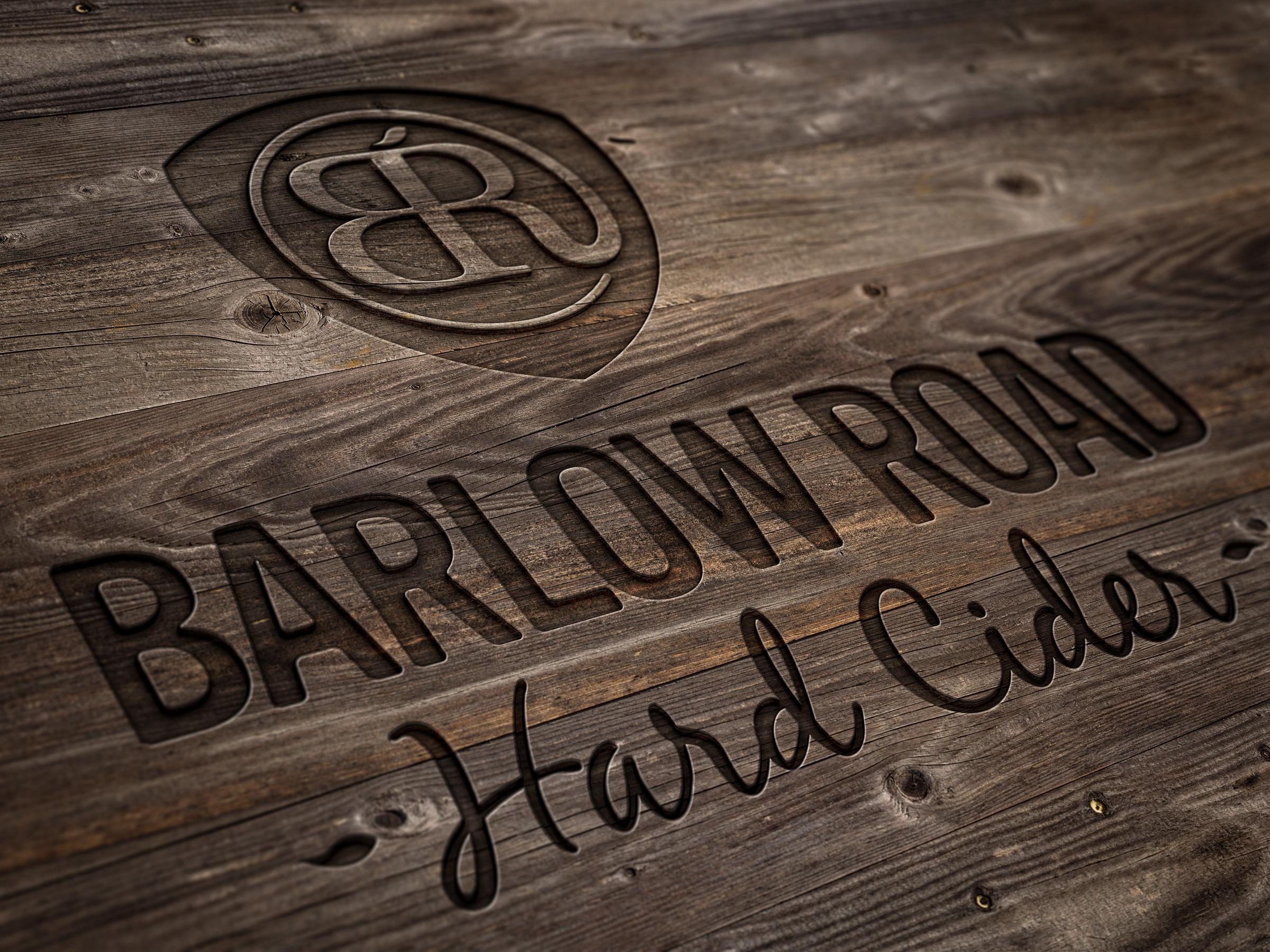 Barlow Road wood logo