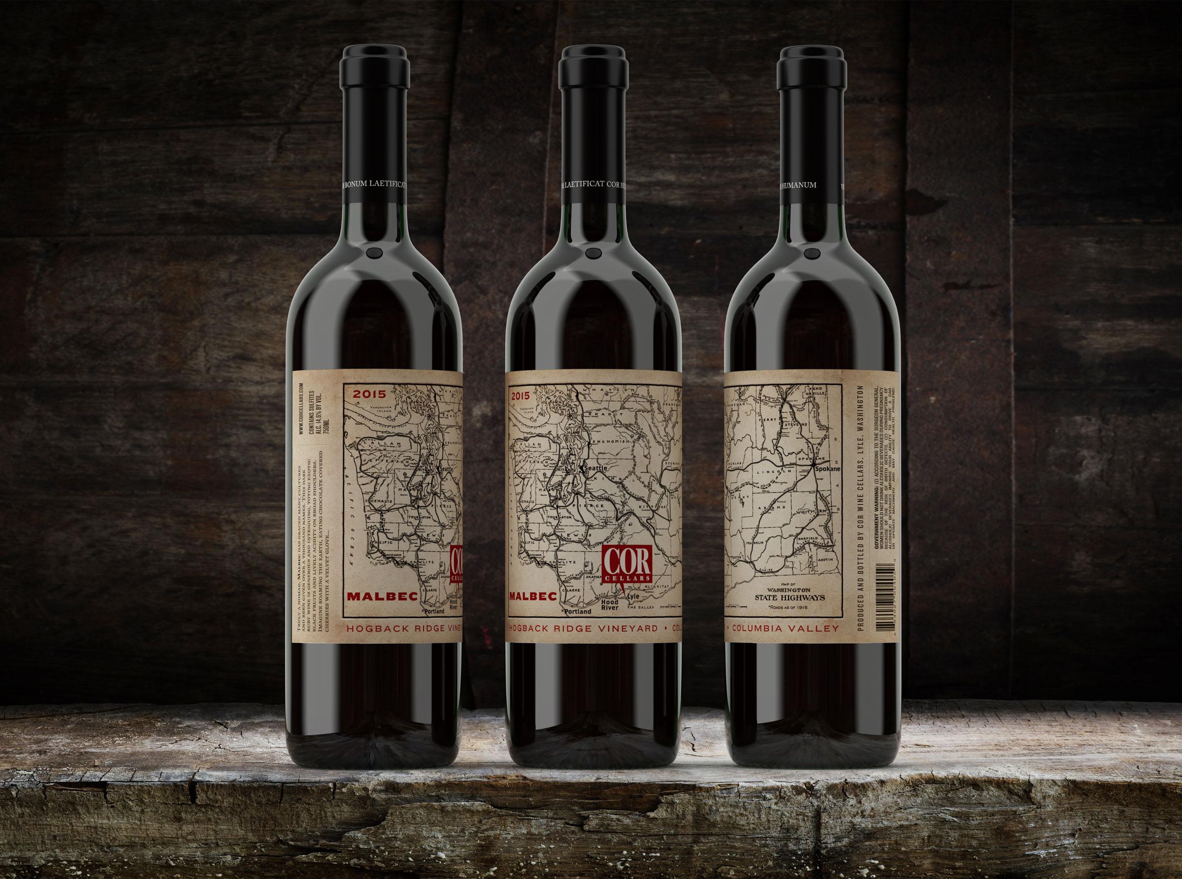 COR Cellars - Malbec Label