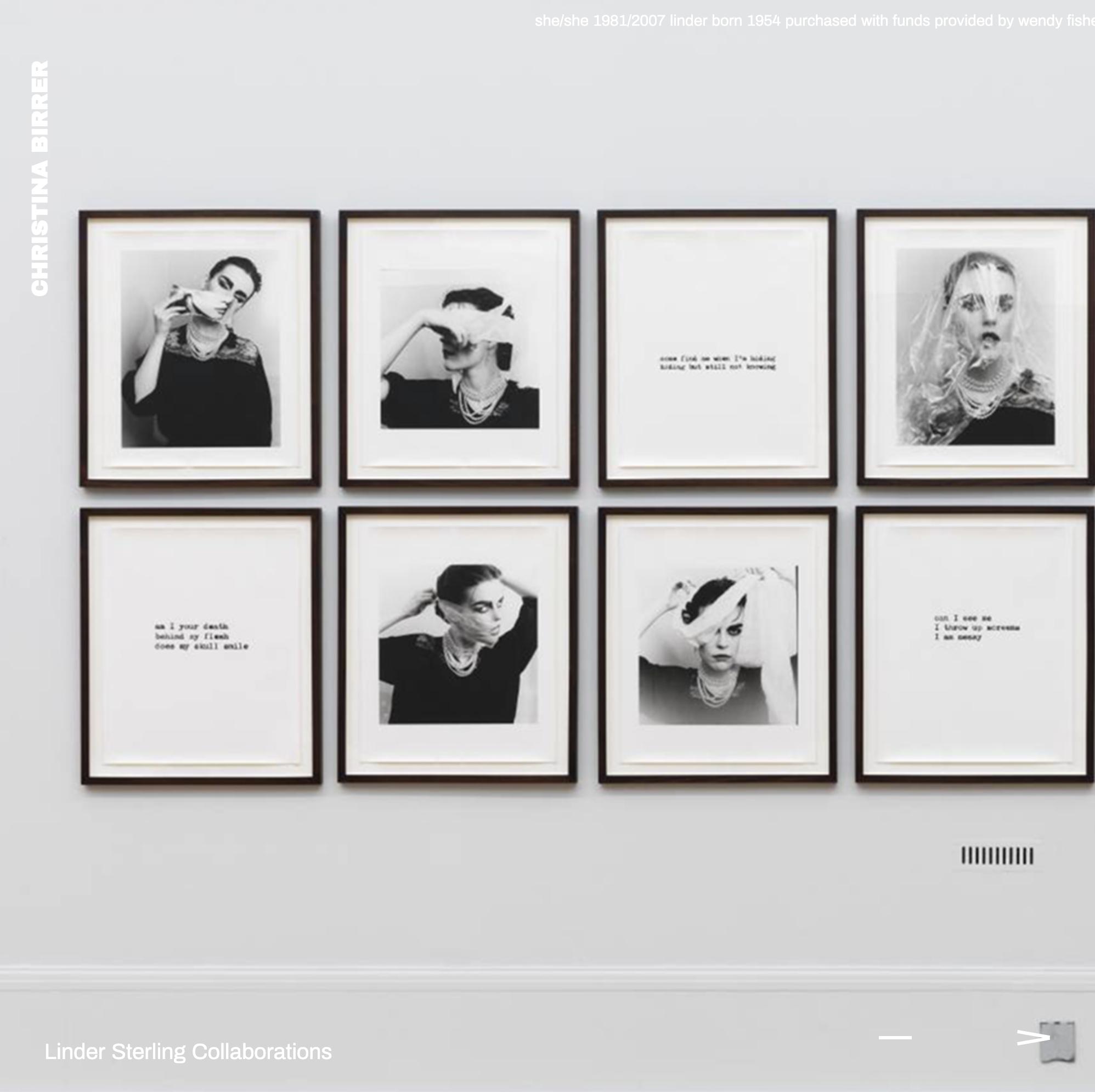 Webflow Web Design Website for Artist