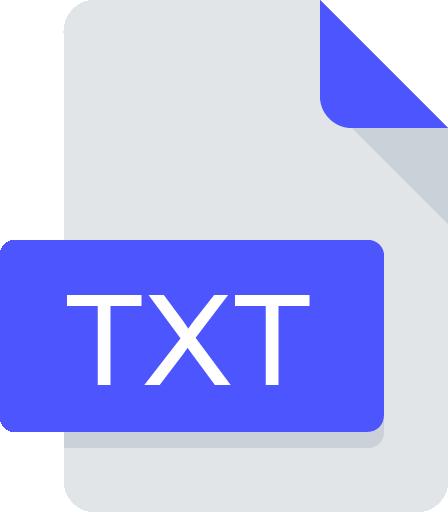 txt document icon