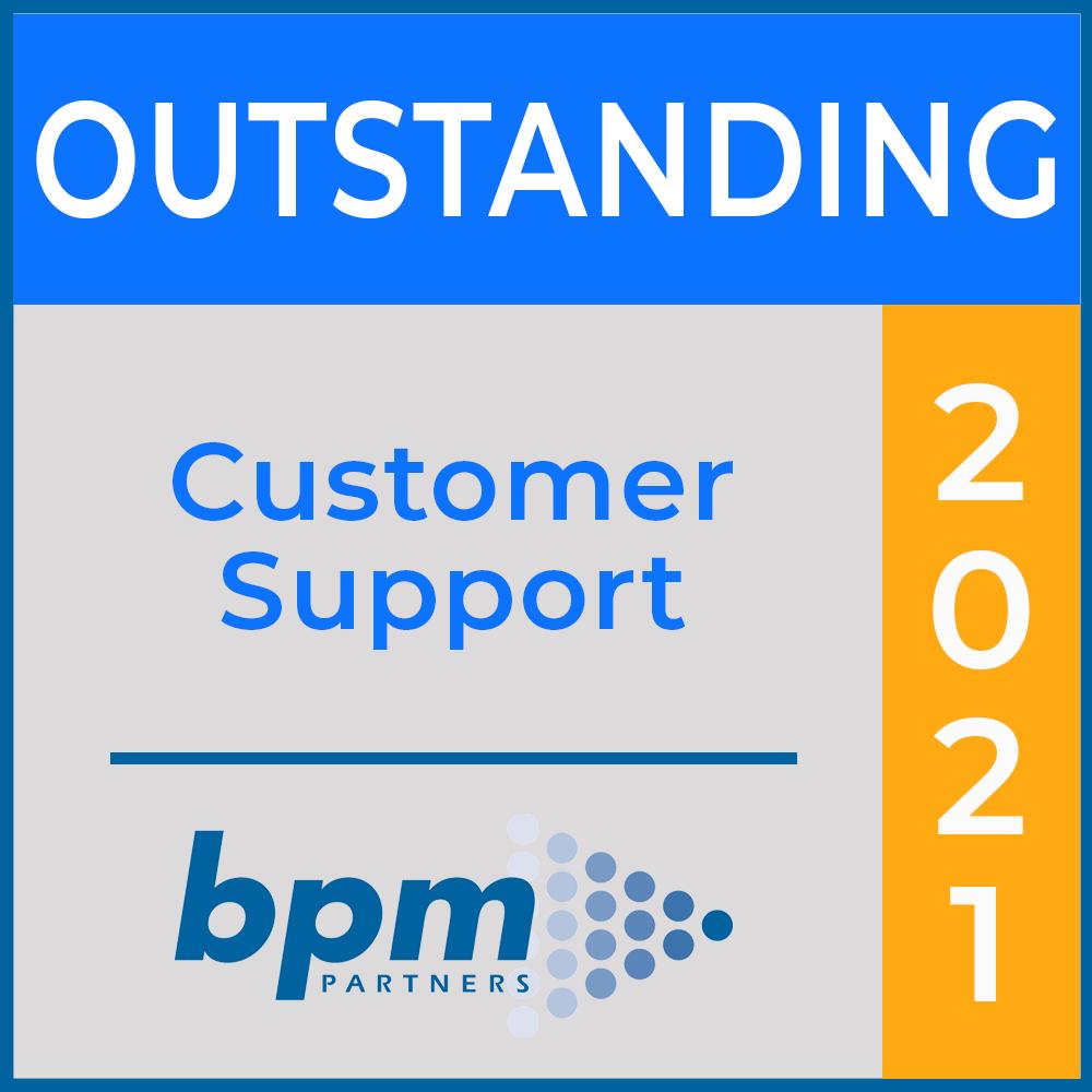 BPM Outstanding Customer Support Award 2021