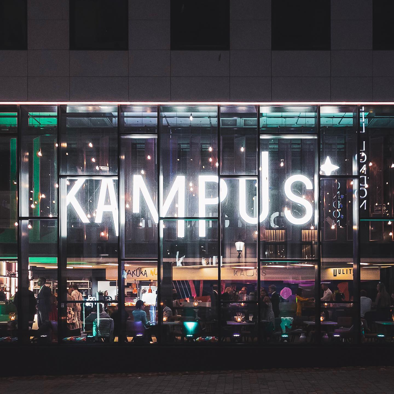 restaurant kampus tartu exterior facade