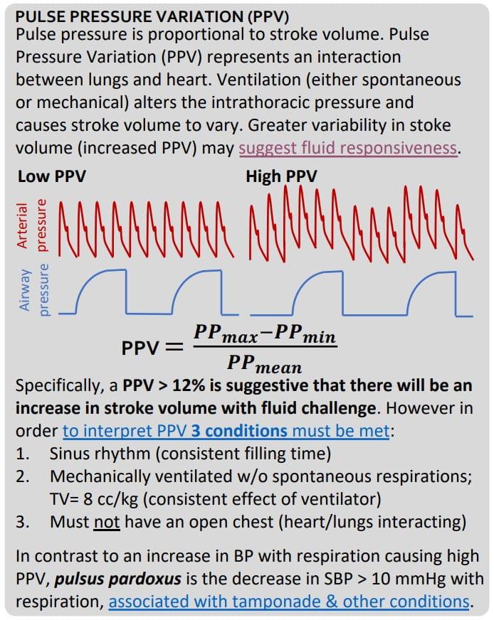 Pulse pressure variation