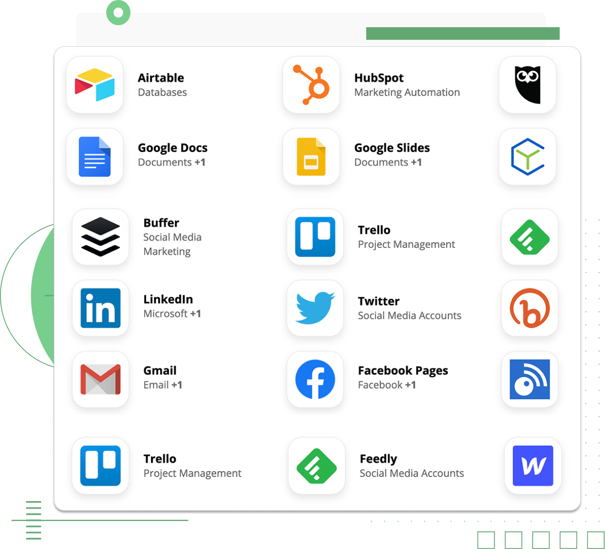 Automate your Newslit briefs directly to any app you already use, you can connect with over 2000+ apps using Zapier - image