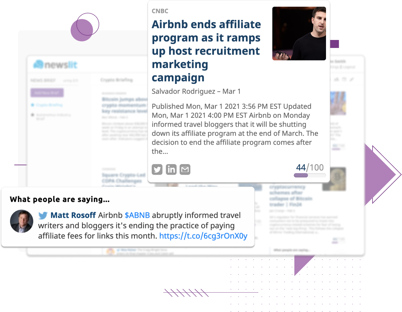 See the news real-time in your dashboard and discover great content - image