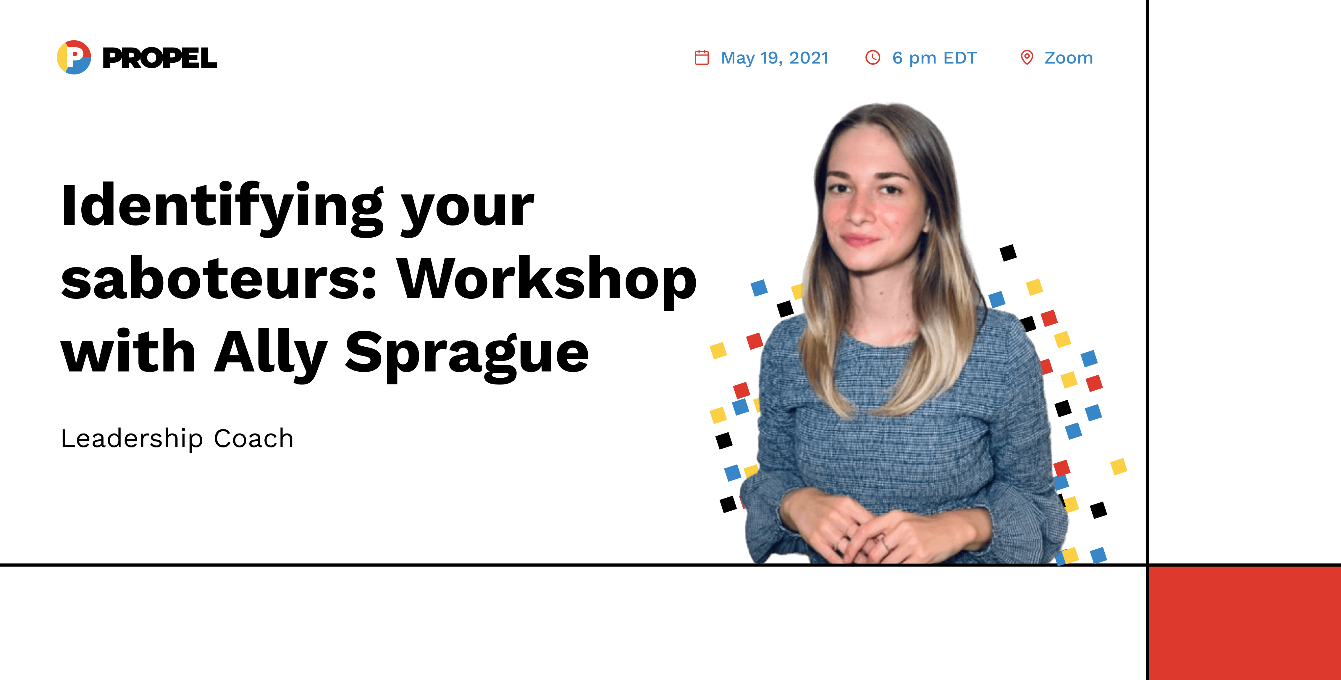 Identifying your saboteurs: Workshop with Leadership Coach Ally Sprague