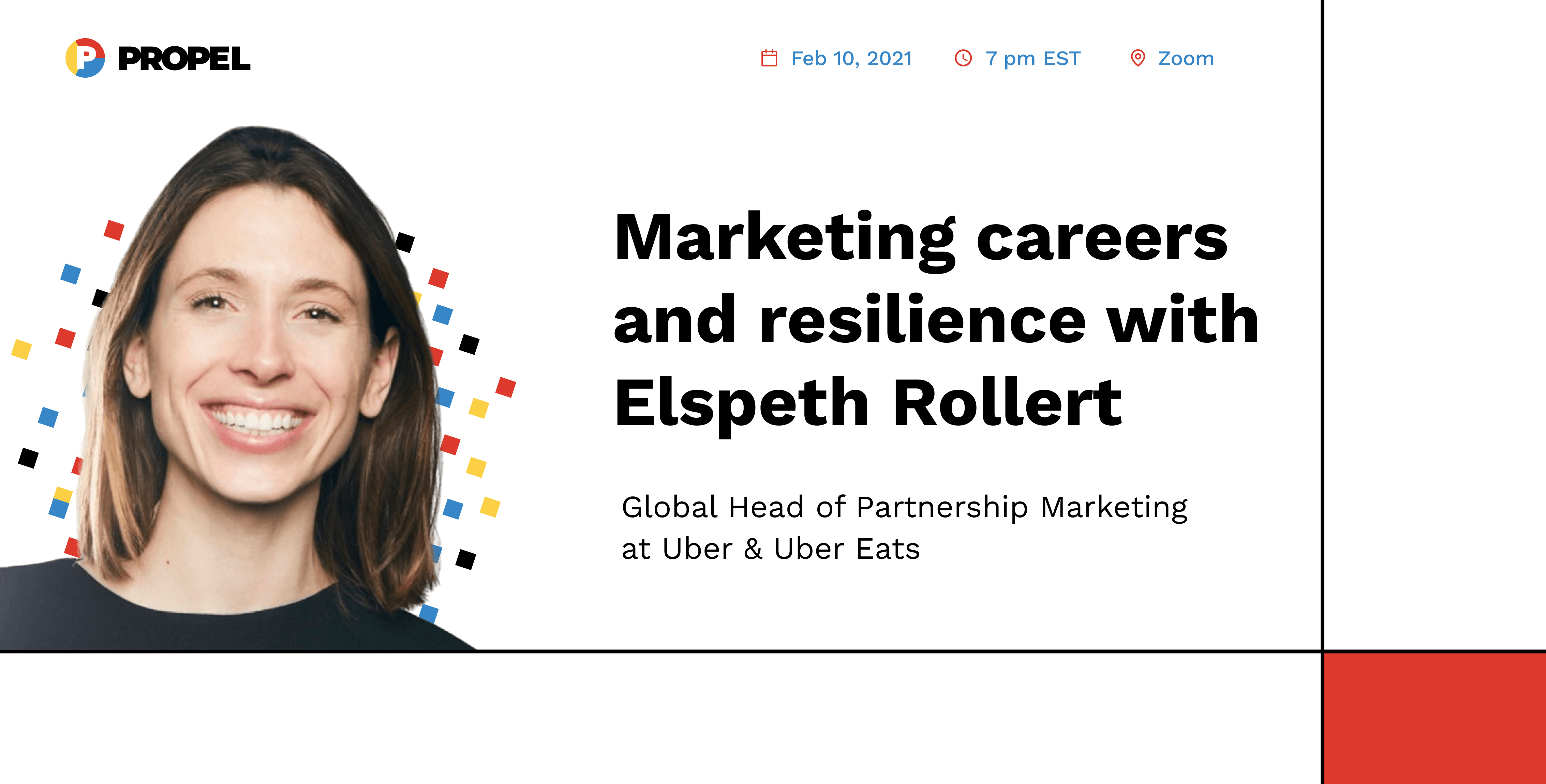 AMA and Networking with Elspeth Rollert, Global Head of Partnership Marketing at Uber Eats