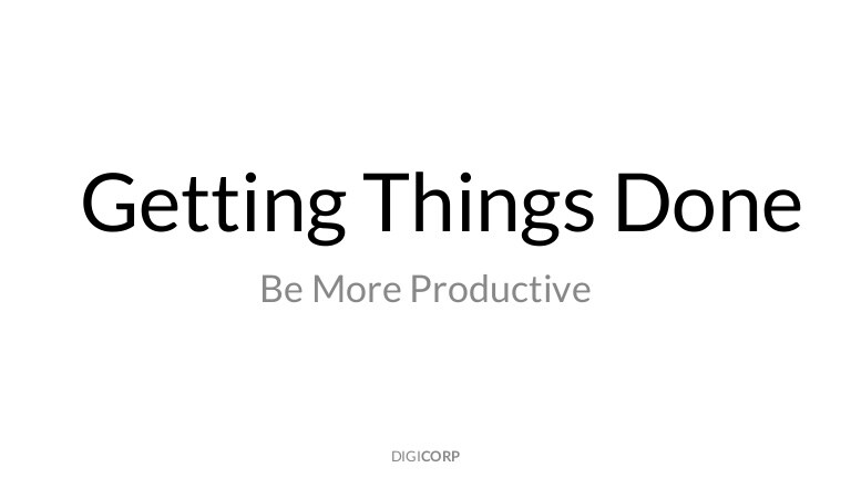 GTD in 15 minutes A Pragmatic Guide to Getting Things Done