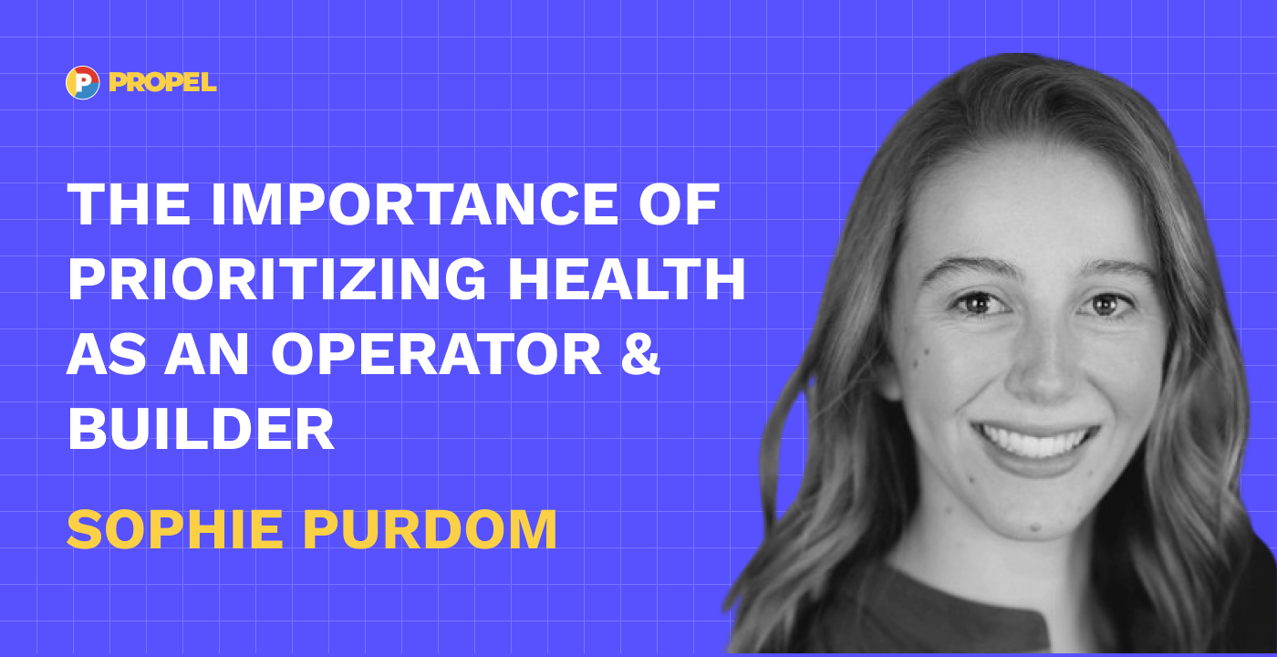 The importance of prioritizing health as an operator & builder