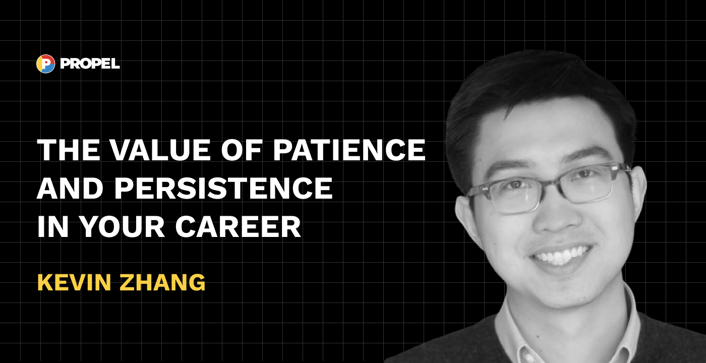 The value of patience and persistence in your career