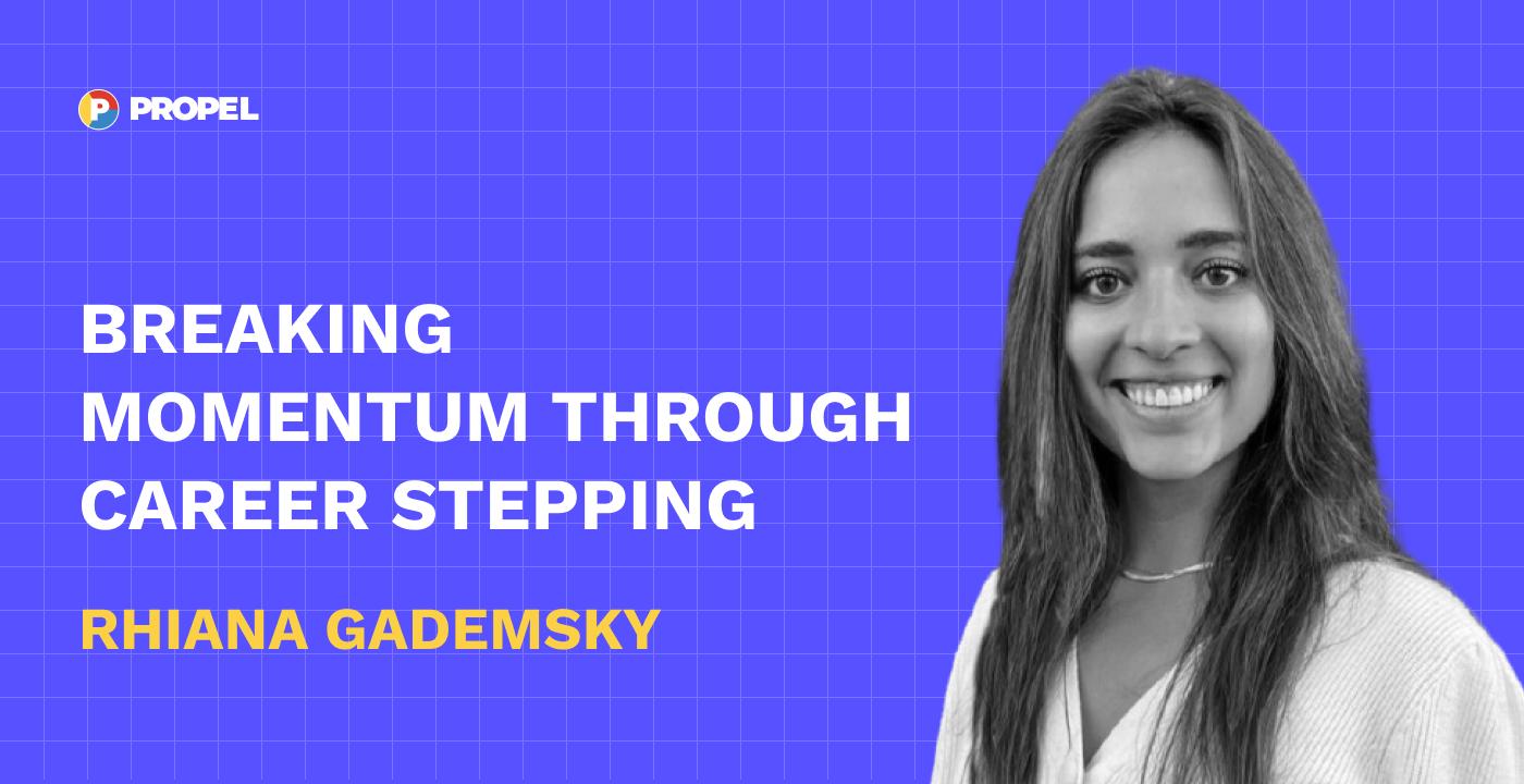 Breaking momentum through career stepping