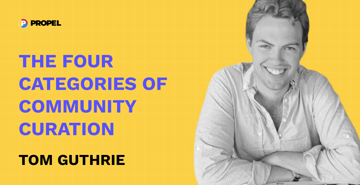 The four categories of community curation