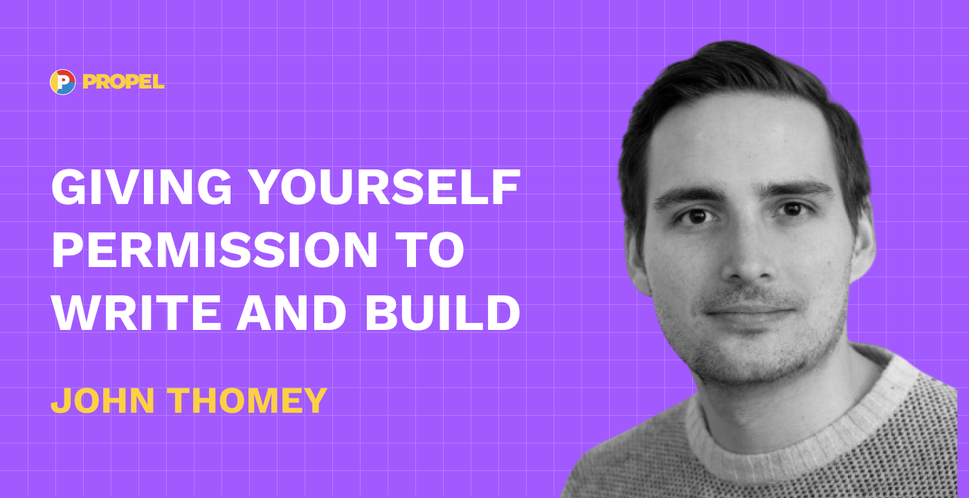 Giving yourself permission to write and build