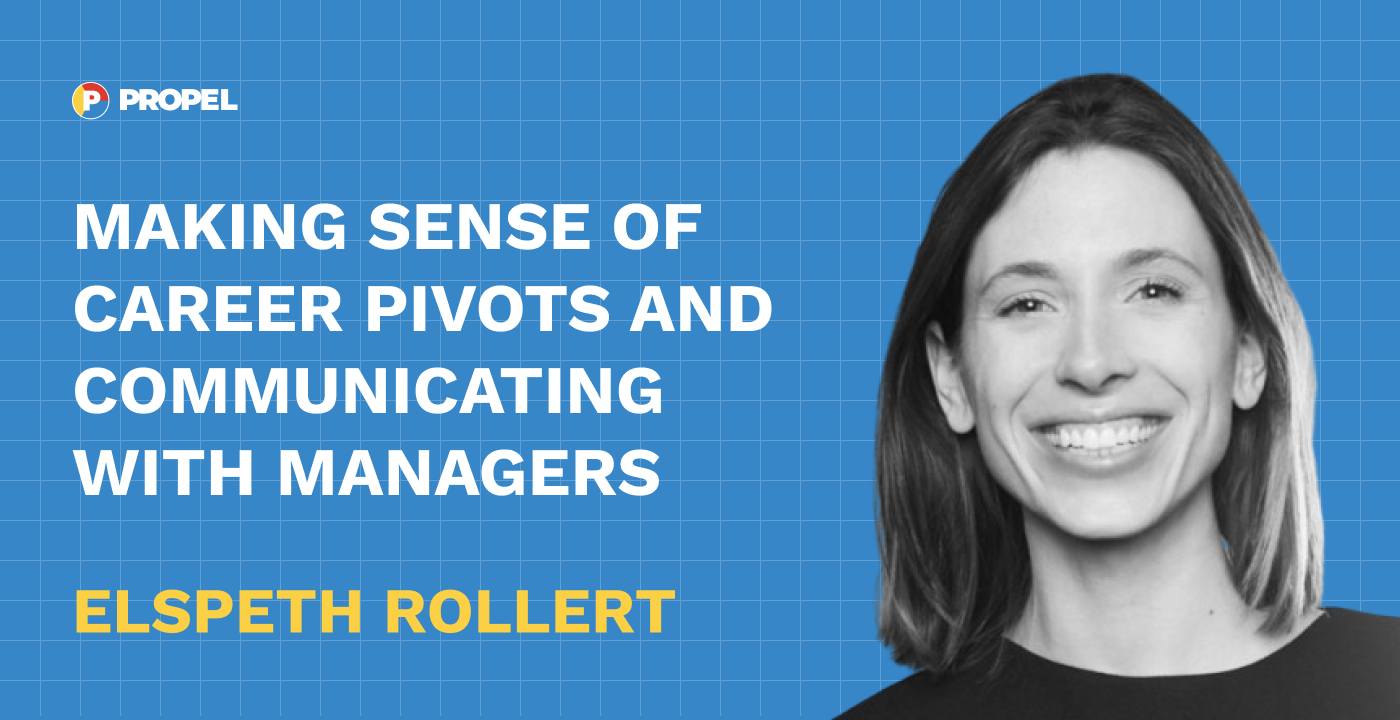 Making sense of career pivots and communicating with managers